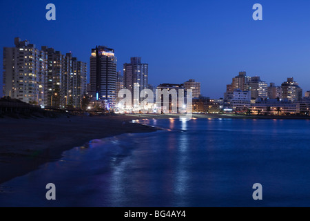 Uruguay, Punta del Este, view from Playa Mansa beach, evening - Stock Photo