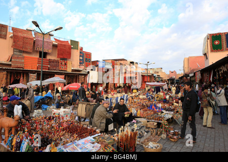 Souks in medina (old walled city), Marrakesh, Morocco, North Africa, Africa - Stock Photo