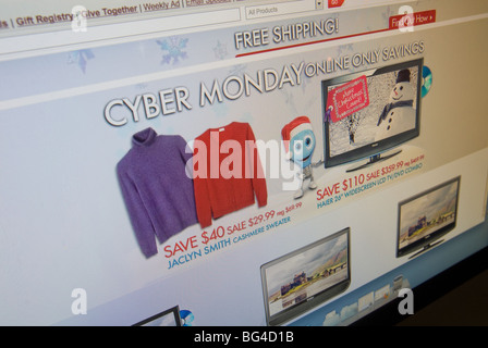 The Kmart website features their Cyber Monday sales - Stock Photo