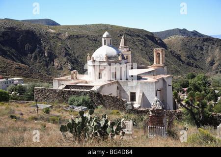 Templo de Guadalupe, Real de Catorce, former silver mining town, San Luis Potosi state, Mexico, North America - Stock Photo