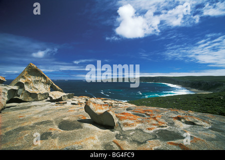 The Remarkable Rocks, layer remnants on granite dome, Flinders Chase National Park, Kangaroo Island, South Australia, - Stock Photo