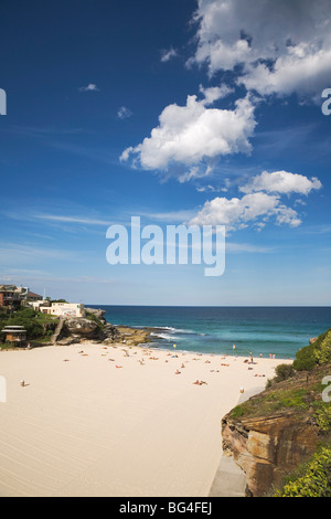 Beach at Tamarama, between Bondi and Bronte in the Eastern Suburbs, Tamarama, Sydney, New South Wales, Australia - Stock Photo