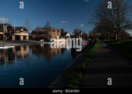 River Cam, Midsummer Common, Cambridge - Stock Photo