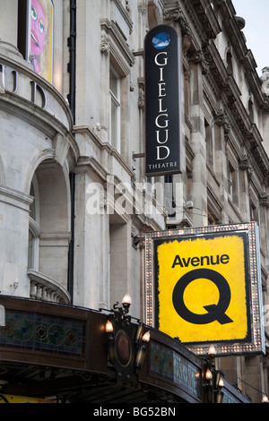 The Gielgud theatre, in Londons West End, London, England, UK - Stock Photo