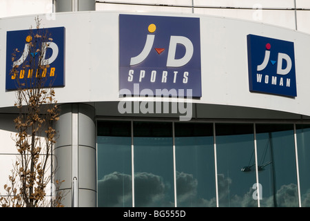 j d sports shop front gallions reach shopping centre within the M25 east london england uk gb - Stock Photo