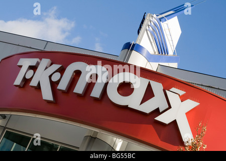t k max shopsign gallions reach shopping centre within the M25 east london england uk gb - Stock Photo