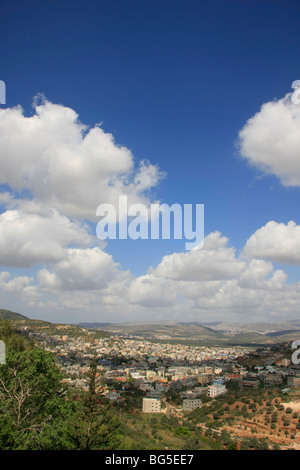Israel, Lower Galilee, a view of Arabe from road 7955 - Stock Photo