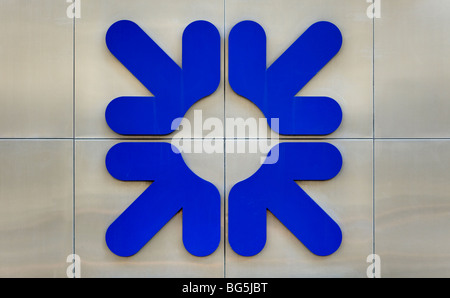 Royal bank of Scotland RBS sign/logo - Stock Photo