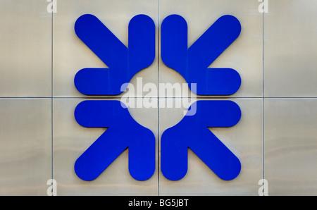 Royal bank of Scotland RBS sign/logo - Stock Photo