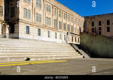Recreation Yard, Alcatraz Island and Prison, National Park in San Francisco Bay, California, USA - Stock Photo