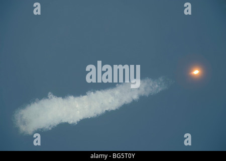 Soyuz TMA-16 liftoff - Stock Photo