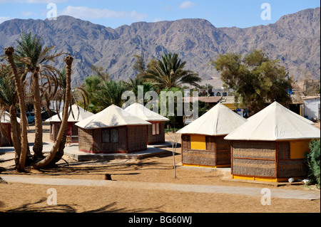 Cabins at Scuba-College and Nuweiba Village Resort, 'Red Sea' Egypt - Stock Photo