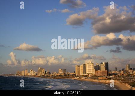 Israel, Tel Aviv coastline - Stock Photo