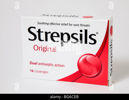 strepsils 'sore throat' lozenges original - Stock Photo