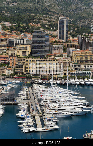 View on the Principality of Monaco, Mediterranean Sea - Stock Photo