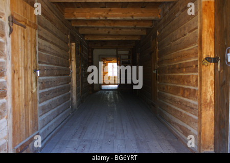 Corridor in old wooden house - Stock Photo