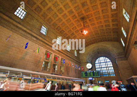Ticket Lobby (Great Hall) in Union Station, downtown Toronto, Ontario, Canada. - Stock Photo