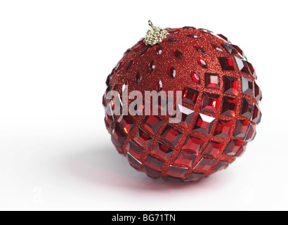 Christmas ornament isolated on white background - Stock Photo