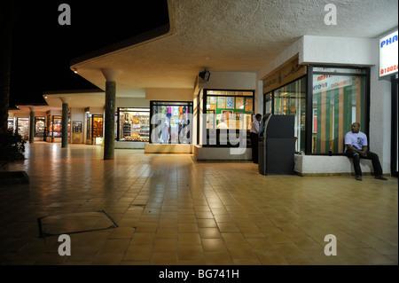 Shops at night, 'Hilton Nuweiba Coral Resort', Nuweiba, Sinai, Egypt - Stock Photo