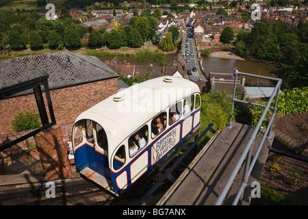 Castle Hill Cliff Railway, Bridgnorth, Shropshire - Stock Photo