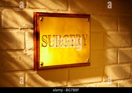 Surgery Sign Exterior - Stock Photo