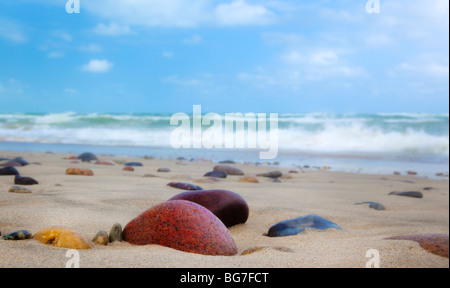 Old Skagen (Höjen) beach in Skagen, Denmark - Stock Photo