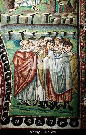 Mosaic in San Vitale (547), UNESCO World Heritage site, Ravenna, Emilia-Romagna, Italy - Stock Photo