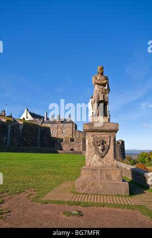 Robert The Bruce Statue Outside Stirling Castle, Stirling, Scotland
