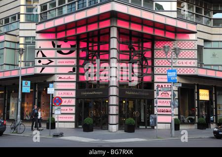 Germany, Berlin, Friedrichstrasse, Entrance of Friedrichstrasse Passagen Department Store, Quartier 206 - Stock Photo