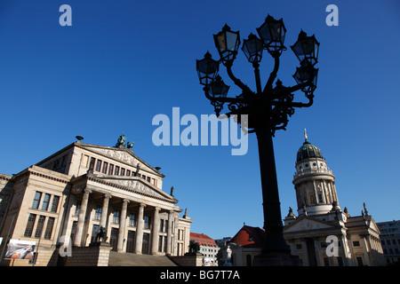 Germany, Berlin, Gendarmenmarkt, Schauspielhaus, Konzerthaus, Concert Hall, Franzosischer Dom, Franzoesischer, French - Stock Photo