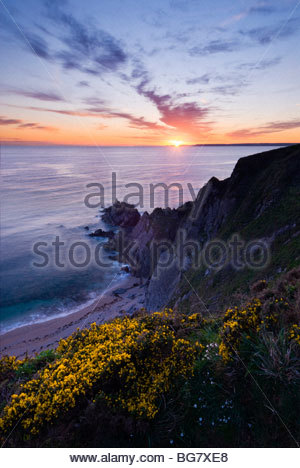 Beacon Point, near Hope Cove, South Hams, South Devon, England. - Stock Photo
