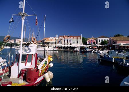 greece, ionian islands, kefalonia, fiskardo, port - Stock Photo