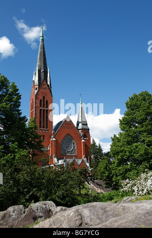 Finland, Western Finland, Turku, Church of St. Michael by Lars Sonck - Stock Photo