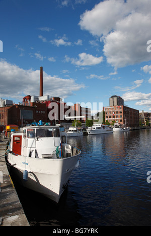 Finland, Region of Pirkanmaa, Tampere, City, Laukontori Market Square, Ratinansuvanto, Tourist Cruise Ships - Stock Photo