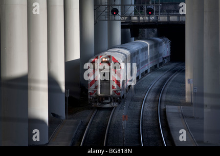 Caltrain, 22nd Street Station, San Francisco, California, USA - Stock Photo