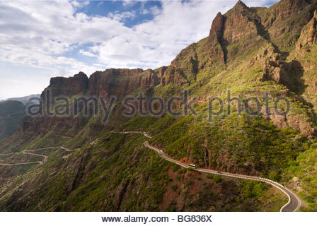 The road to Masca, Tenerife, Canary Islands, Spain. - Stock Photo