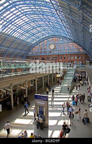 St. Pancras Station, London, England - Stock Photo