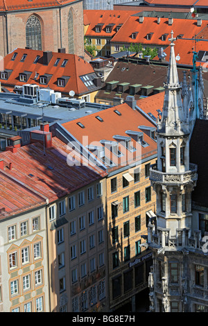 View of Munich from St. Peter's Church (Peterskirche), Munich, Bavaria, Germany - Stock Photo
