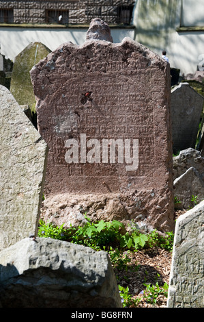 Jewish Cemetery in Prague - Stock Photo