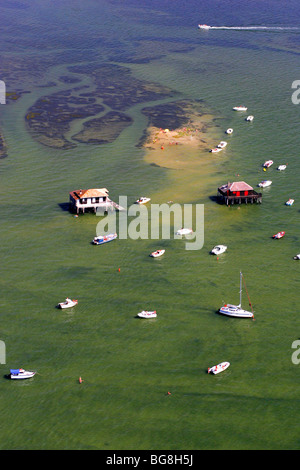 Arcachon Bay (33) : Pile dwellings - Stock Photo