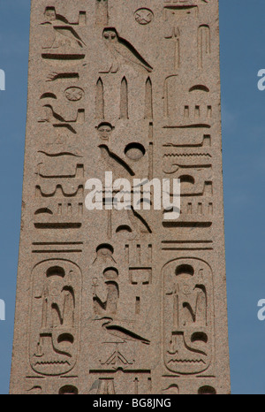 Egyptian obelisk of Ramesses II from Heliopolis. Piazza del Popolo. Rome. Italy.