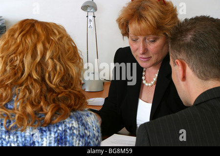 Young couple counseling consult visit, sound advice - Stock Photo