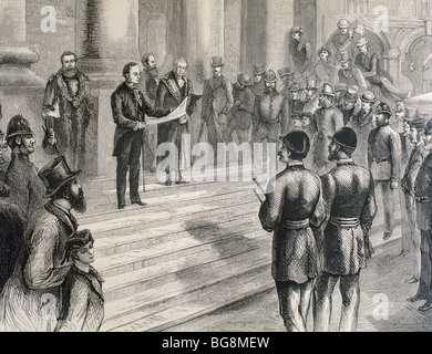 LONDON. Official proclamation of Queen Victoria (1819-1901) as Empress of India. - Stock Photo