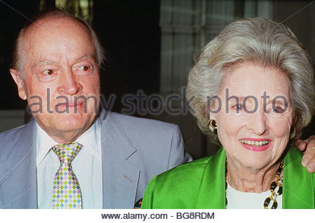Bob Hope, KBE , KCSG (born Leslie Townes Hope; May 29, 1903 – July 27, 2003) was an English-born American comedian - Stock Photo