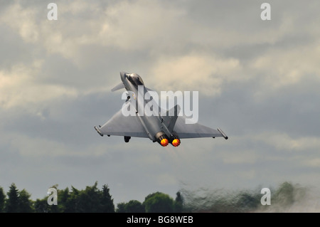 RAF Eurofighter Typhoon Aircraft at RIAT 2009 - Stock Photo
