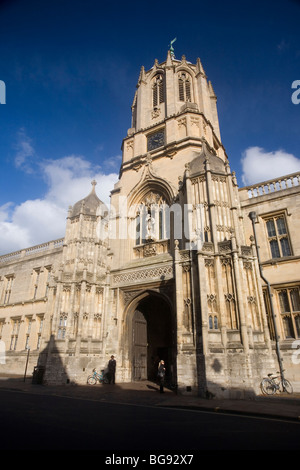Tom Tower, Christ Church College, Oxford University, England, UK - Stock Photo