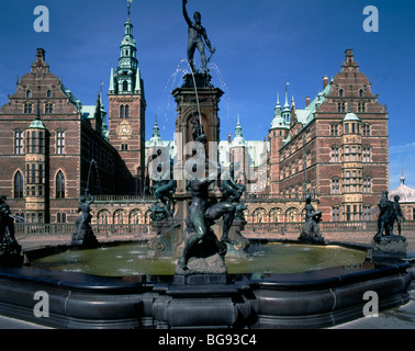 Denmark Hillerod Frederiksborg Castle - Stock Photo