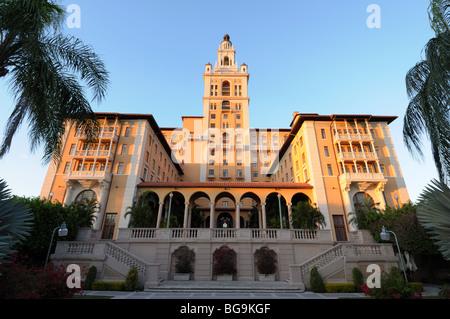 The historic Biltmore Hotel in Coral Gables, Miami Florida - Stock Photo