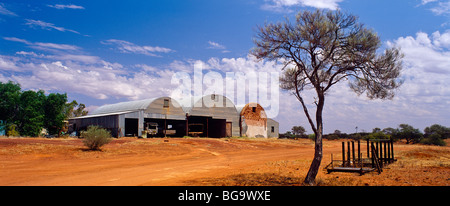Buildings Sheep Station Outback Western Australia Stock