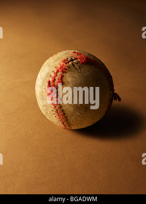 Worn Out Baseball - Stock Photo